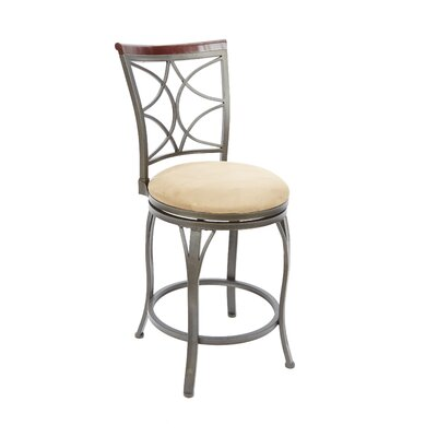 Walbridge 24 Swivel Bar Stool Upholstery: Tan