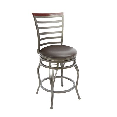 Boyertown 24 Swivel Bar Stool Upholstery: Espresso