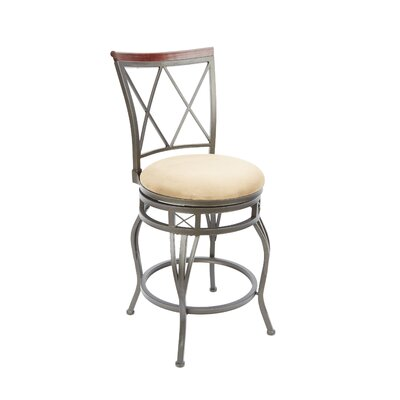 Twinbrook 24 Swivel Bar Stool Upholstery: Tan