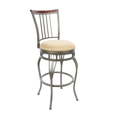 Birdsall 29 Swivel Bar Stool Upholstery: Tan