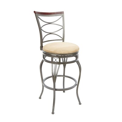 Vaughnsville 29 Swivel Bar Stool Upholstery: Tan