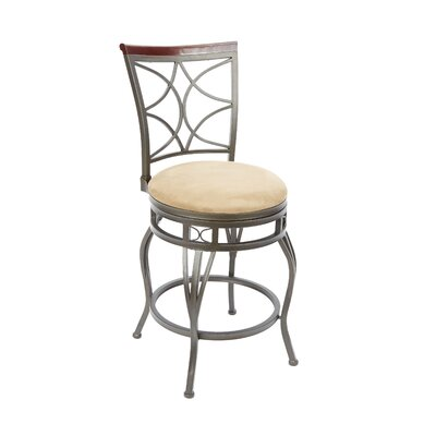 Wakefield 24 Swivel Bar Stool Upholstery: Tan