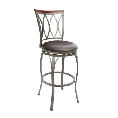 Vivian 29 Swivel Bar Stool Upholstery: Espresso