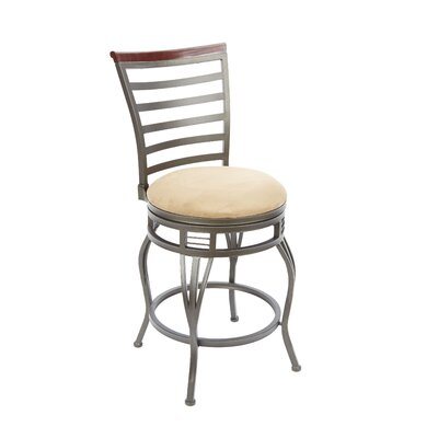 Boyertown 24 Swivel Bar Stool Upholstery: Tan
