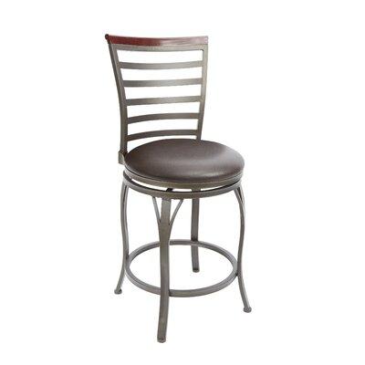 Bradenville 24 Swivel Bar Stool Upholstery: Espresso