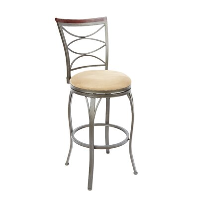 Vernier 29 Swivel Bar Stool Upholstery: Tan