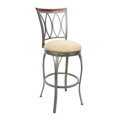 Vivian 29 Swivel Bar Stool Upholstery: Tan