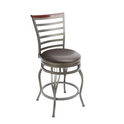 Bonneauville 24 Swivel Bar Stool Upholstery: Espresso