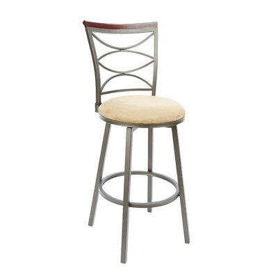 Verona 29 Swivel Bar Stool Upholstery: Tan