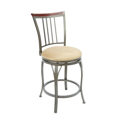Blenheim 24 Swivel Bar Stool Upholstery: Tan