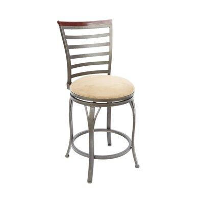 Bradenville 24 Swivel Bar Stool Upholstery: Tan