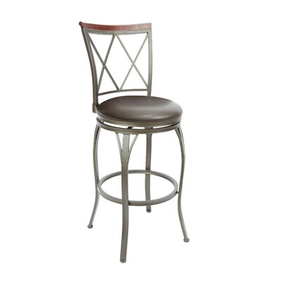 Utica 29 Swivel Bar Stool Upholstery: Espresso