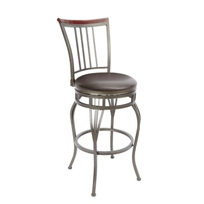 Birdsall 29 Swivel Bar Stool Upholstery: Espresso