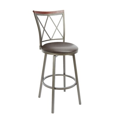 Vandalia 29 Swivel Bar Stool Upholstery: Espresso
