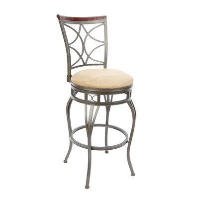 Wakeman 29 Swivel Bar Stool Upholstery: Tan