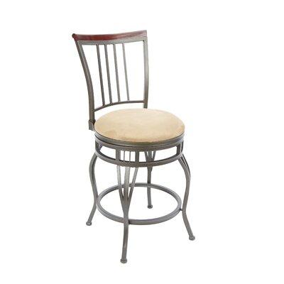 Birchwood 24 Swivel Bar Stool Upholstery: Tan