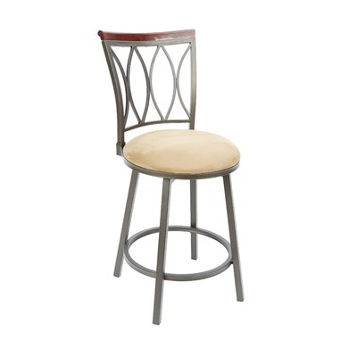 Wademoor 24 Swivel Bar Stool Upholstery: Tan
