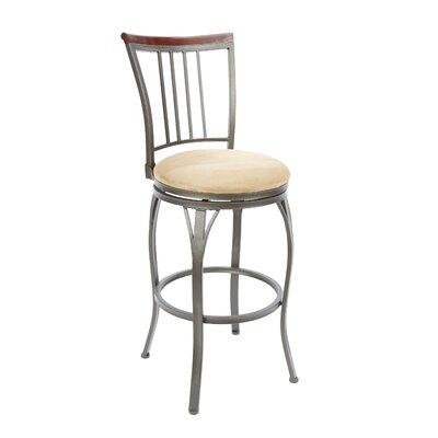 Bloomsburg 29 Swivel Bar Stool Upholstery: Tan