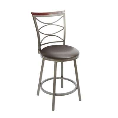 Vernon 24 Swivel Bar Stool Upholstery: Espresso