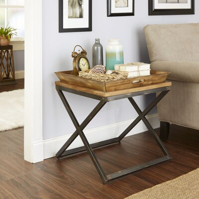 Derrick Industrial End Table