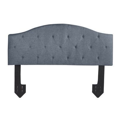 Cheval Tufted Powered Upholstered Panel Headboard Size: Queen, Upholstery: Dark Gray