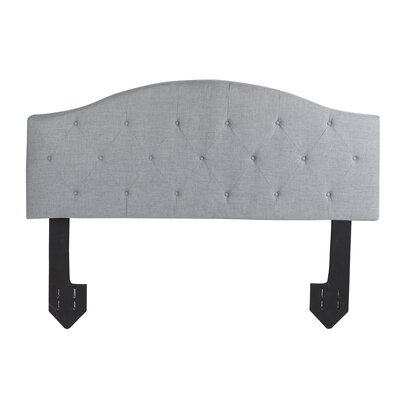 Cheval Tufted Powered Upholstered Panel Headboard Size: Queen, Upholstery: Light Gray