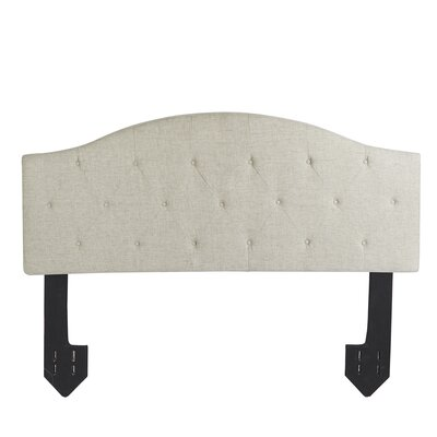 Cheval Tufted Powered Upholstered Panel Headboard Size: Queen, Upholstery: Tan