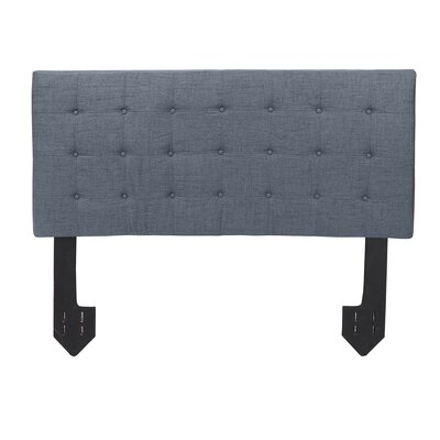 Dartmoor Tufted Powered Upholstered Panel Headboard Upholstery: Dark Gray, Size: Queen