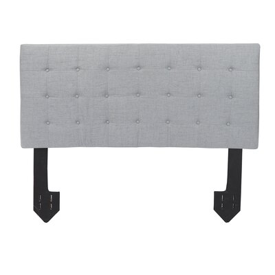Dartmoor Tufted Powered Upholstered Panel Headboard Size: King, Upholstery: Light Gray