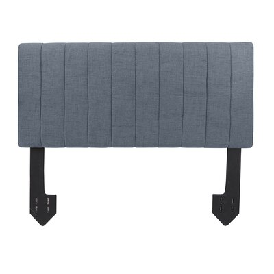 Hofstetter Tufted Powered Upholstered Panel Headboard Upholstery: Dark Gray, Size: King