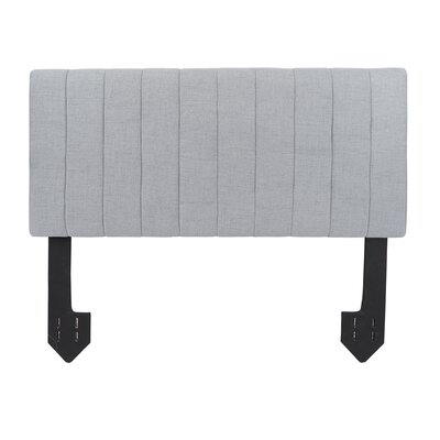 Hofstetter Tufted Powered Upholstered Panel Headboard Upholstery: Light Gray, Size: Queen