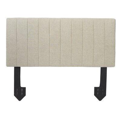 Hofstetter Tufted Powered Upholstered Panel Headboard Size: King, Upholstery: Tan