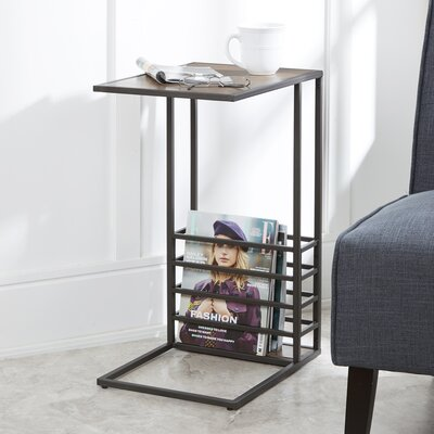 Raze Wood and Metal End Table