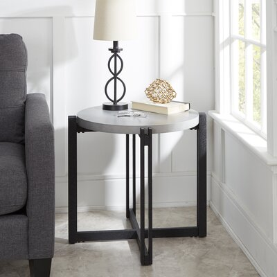 Baran Round End Table