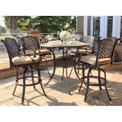 Beadle 5 Piece Bar Set with Cushions