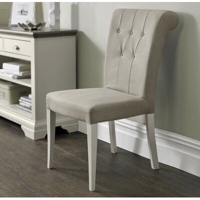 Lattimore Roll Back Upholstered Dining Chair