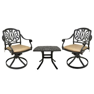 Nina 3 Piece Bistro Set with Cushions