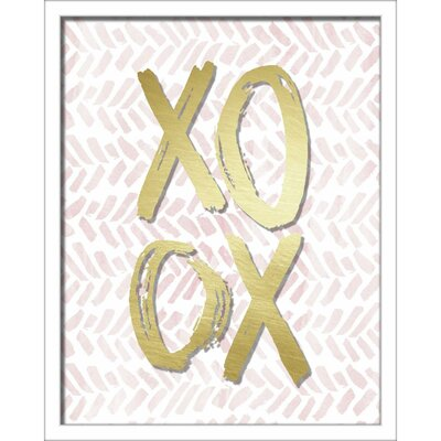'Xoxo Brush Strokes' Framed Textual Art Size: 20