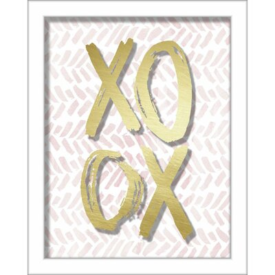 'Xoxo Brush Strokes' Framed Textual Art Size: 10