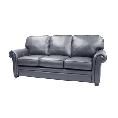 Brentford Leather Sofa Upholstery: Ocean Blue