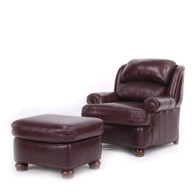 Fairford Leather Club Chair And Ottoman