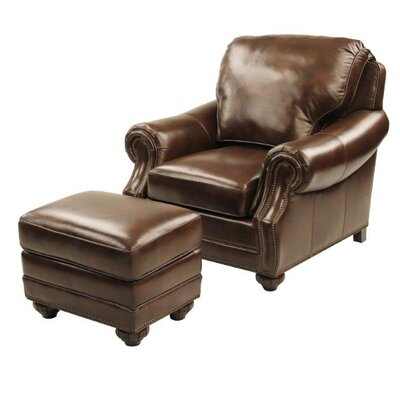 Fairmont Leather Club Chair And Ottoman