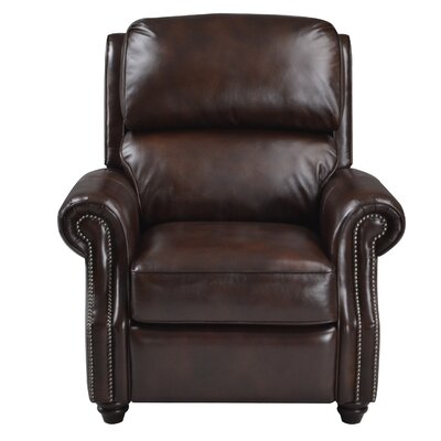 Farina Leather Manual Recliner Upholstery: Mink