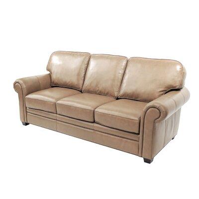 Brentford Leather Sofa Upholstery: Camel