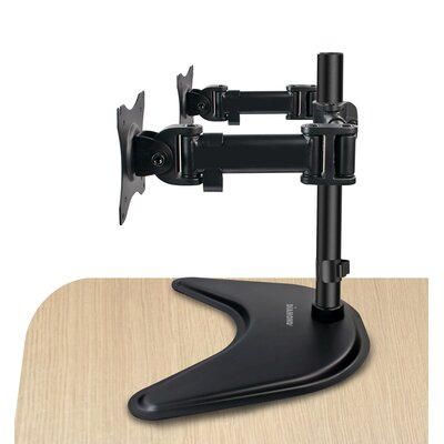 Elite Series Dual Arm Articulating Vesa Adjustable 2 Screen Desk Mount