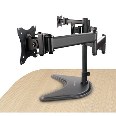 Elite Series Triple Arm Articulating Table Vesa Table Top Adjustable 3 Screen Desk Mount