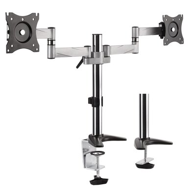 Pro Series Dual Arm Articulating Vesa Adjustable 2 Screen Desk Mount