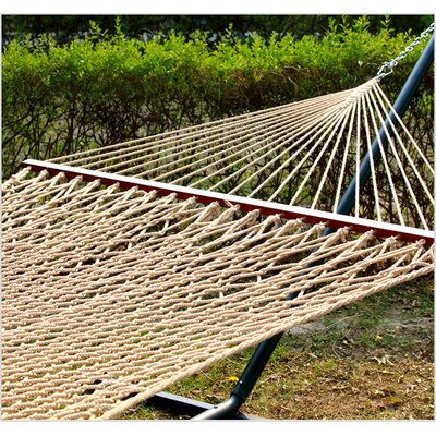 Payton Fabric Hammock Rope Tree Hammock Color: Brown
