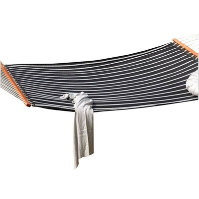 Image of Aaliyah Quilted Tree Hammock Color: Black/White