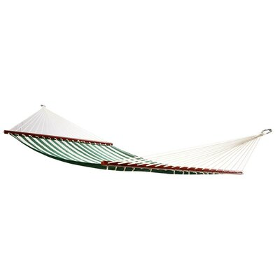 Image of Aaliyah Quilted Tree Hammock Color: Green/White